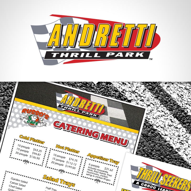 Andretti Thrill Park Print promotions design
