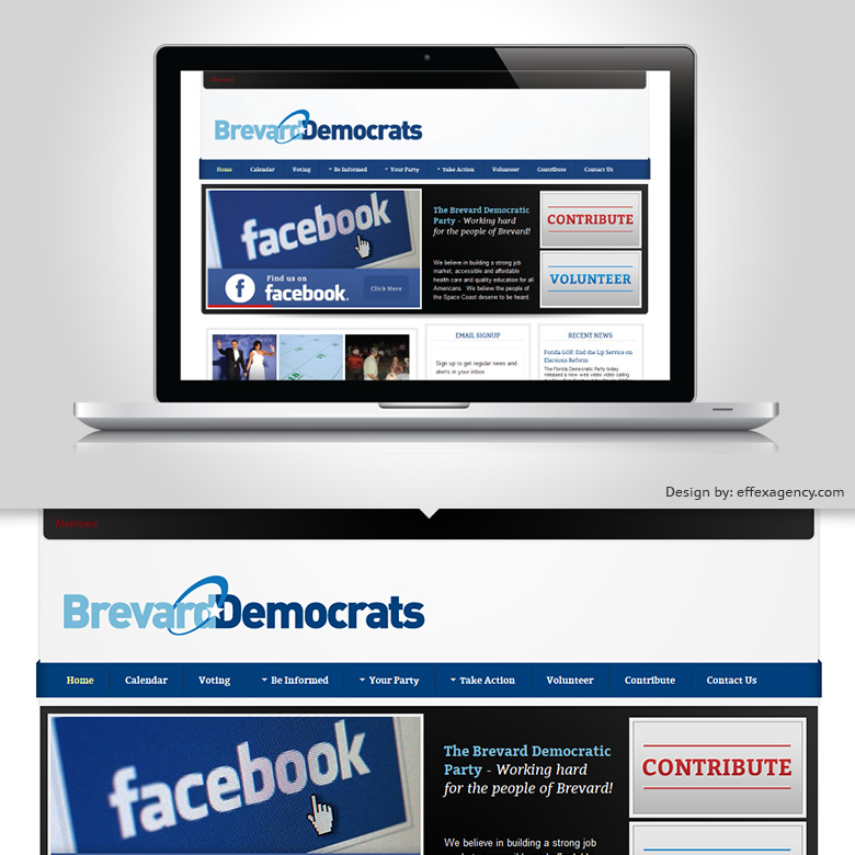 Brevard County Democrats Website Design