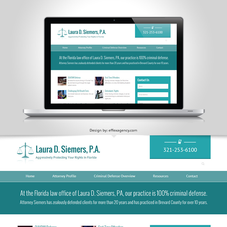 Laura Siemers Viera attorney website