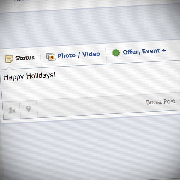 Holidays on social media